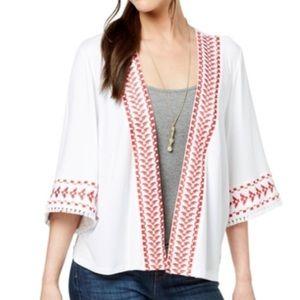 Style & Co Geo Trim Kimono